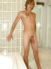 Horny college twink naked