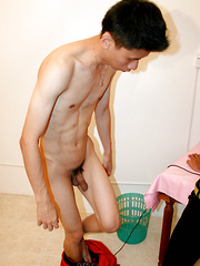 Cute japanese boy sucks dick